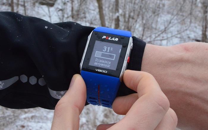 zegarek Polar V800 aktywność w ciągu dnia