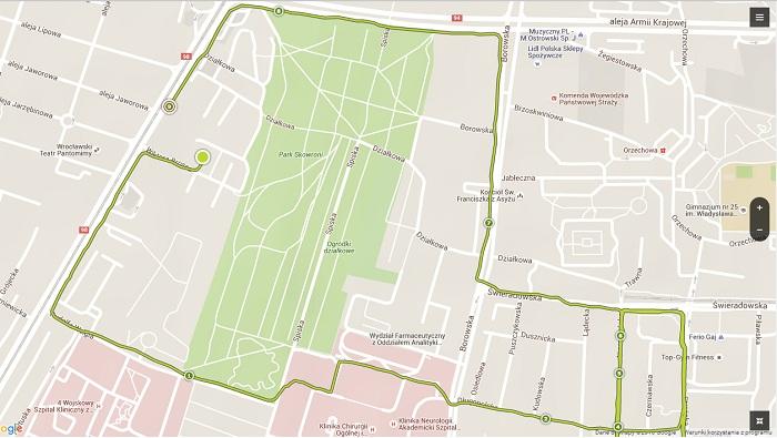 TomTom Runner 2 GPS mapa