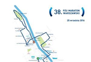 Trasa 38. PZU Maratonu Warszawskiego