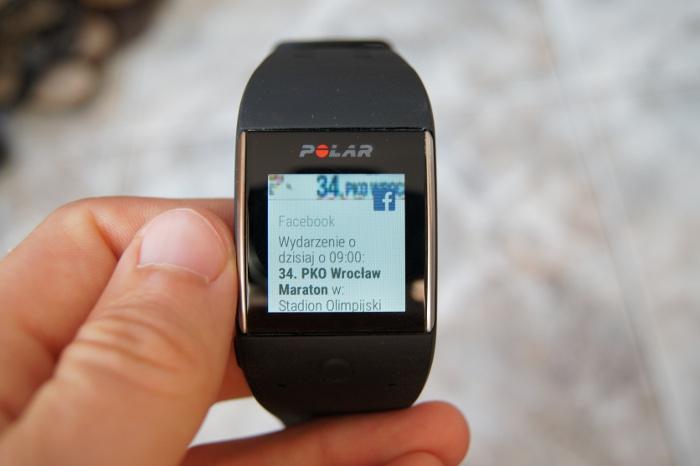 Polar M600 powiadomienia