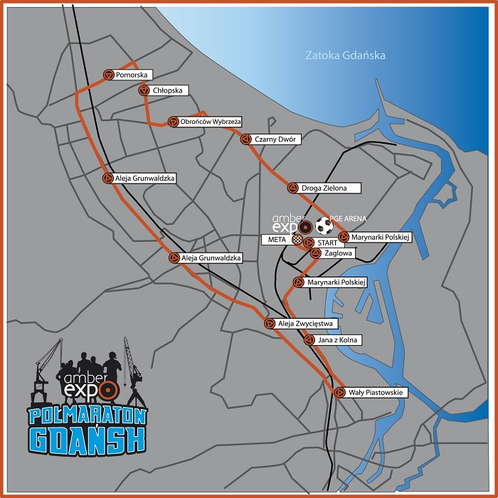 Polmaraton Gdansk 2015 trasa
