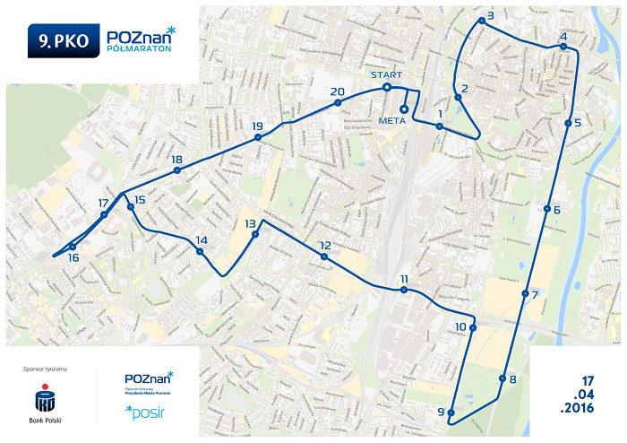 Poznań półmaraton trasa