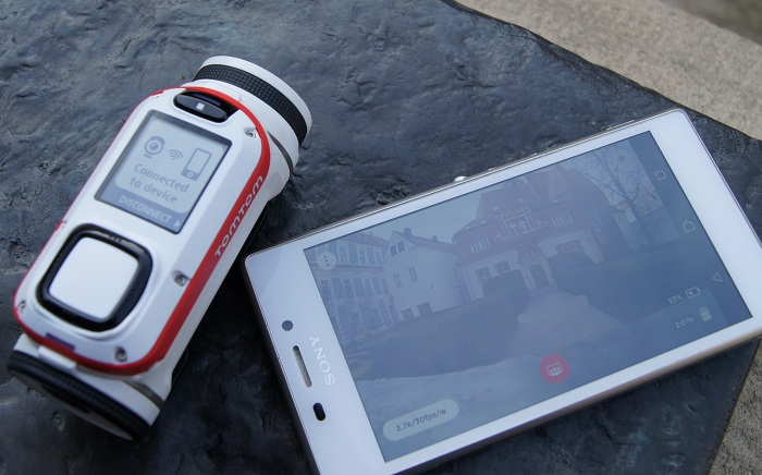 Kamera TomTom Bandit aplikacja mobilna