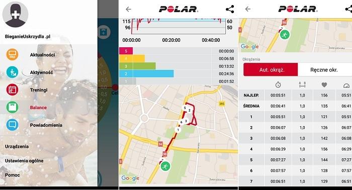 Polar Flow aplikacja mobilna
