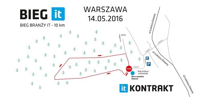 Bieg IT Warszawa trasa