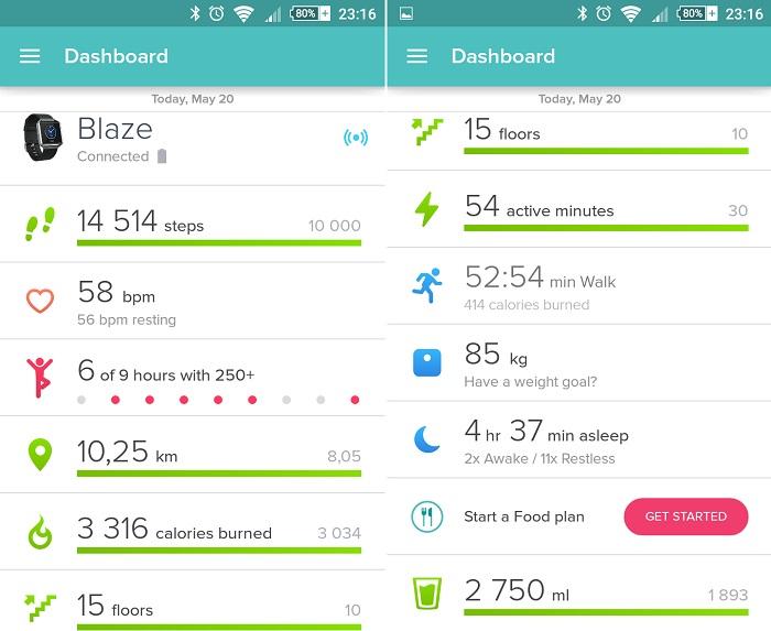 Fitbit App aplikacja