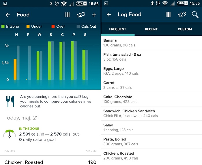 Fitbit App dieta