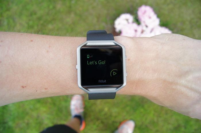 Fitbit Blaze bieganie