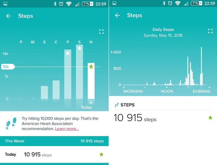 Fitbit App kroki