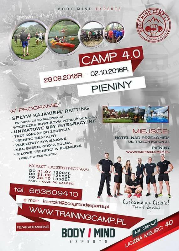 training camp plakat