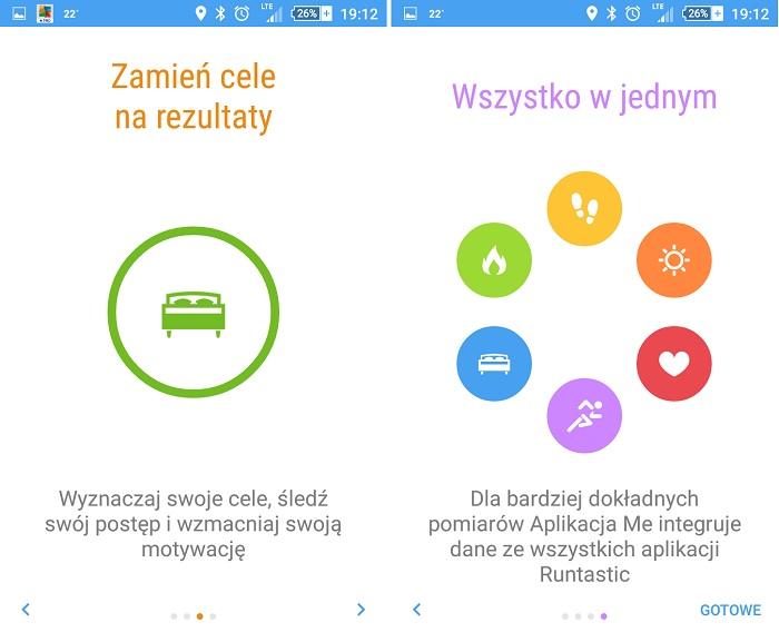 Runtastic ME aplikacja