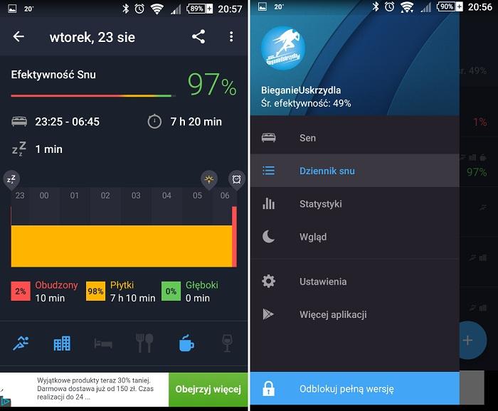 Runtastic Sleep Better - aplikacja