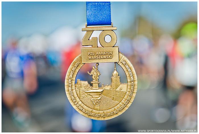 40. PZU Maraton Warszawski medal