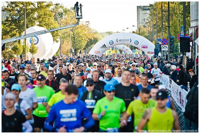 40. PZU Maraton Warszawski biegacze