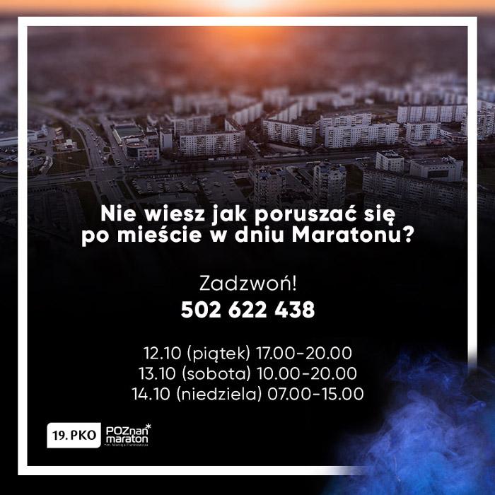 Poznań Maraton 2018 utrudnienia pomoc
