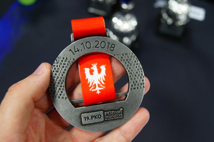 Poznań Maraton 2018 nagroda w postaci medalu
