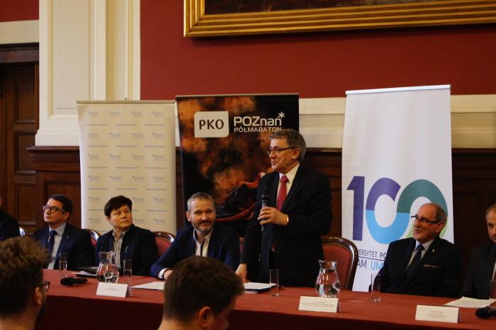 Tadeusz Wallas konferencja prasowa 12.PKO Poznań Półmaraton
