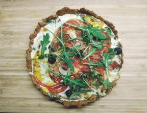 Tarta a la pizza z szynką parmeńską