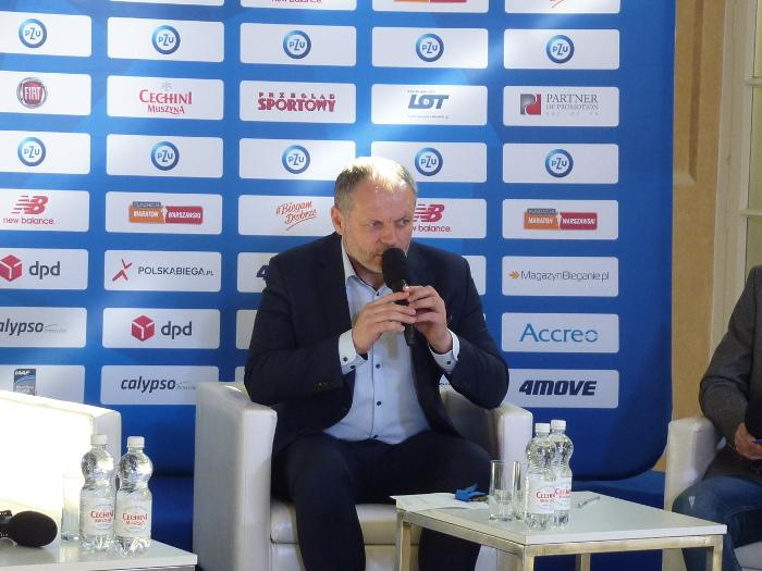 Marek Tronina dyrektor 14.PZU Półmaratonu Warszawskiego
