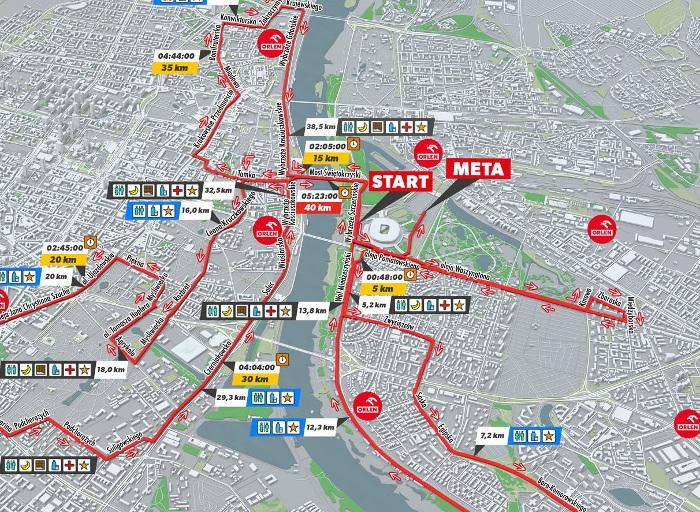 ORLEN Warsaw Marathon 2019 trasa tegorocznej edycji