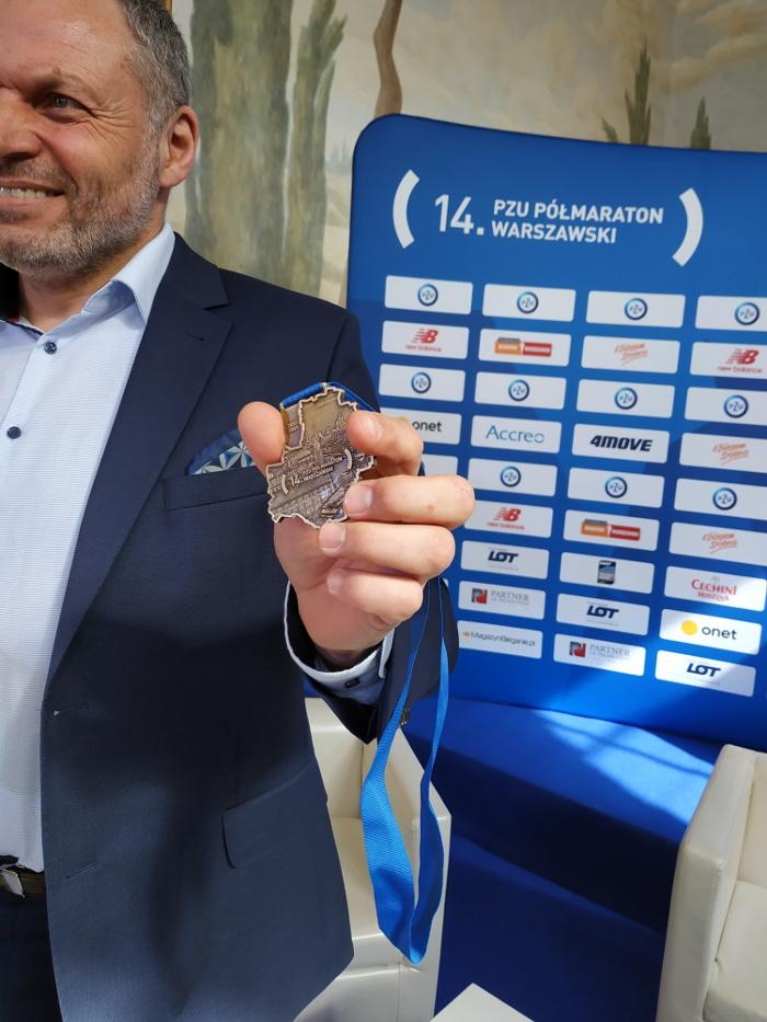 Półmaraton Warszawski 2019 medal