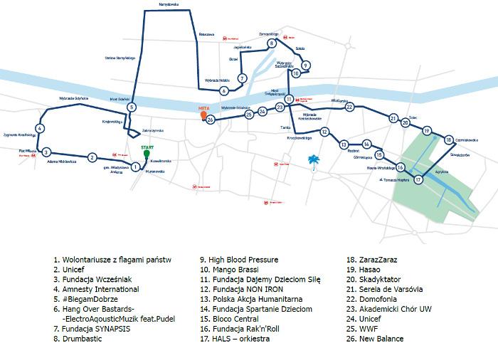 PZU Półmaraton Warszawski 2019 trasa z kibicami