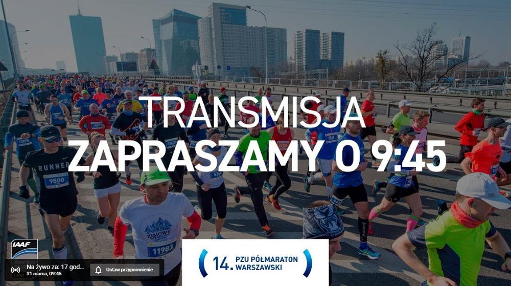 transmisja PZU Półmaraton Warszawski 2019
