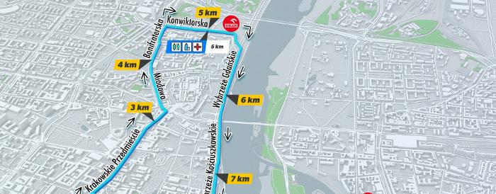 ORLEN Warsaw Marathon: nowa trasa biegu OSHEE 10 km