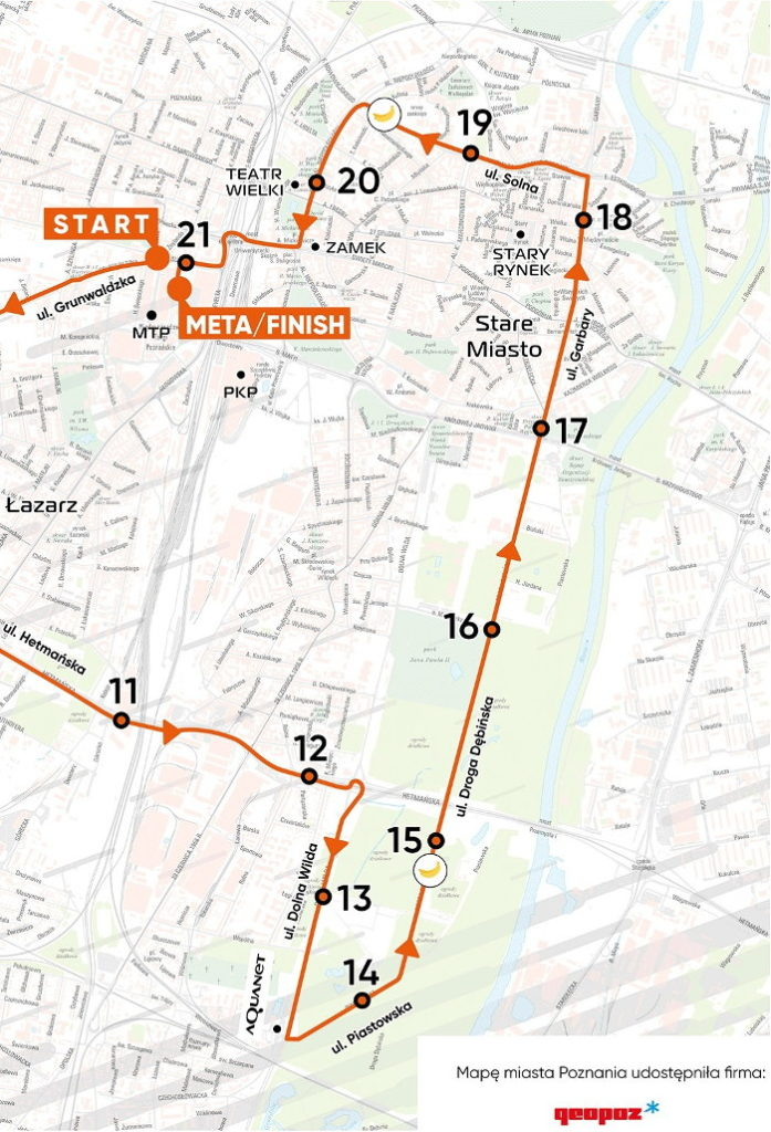 12. PKO Poznań Półmaraton trasa i utrudnienia
