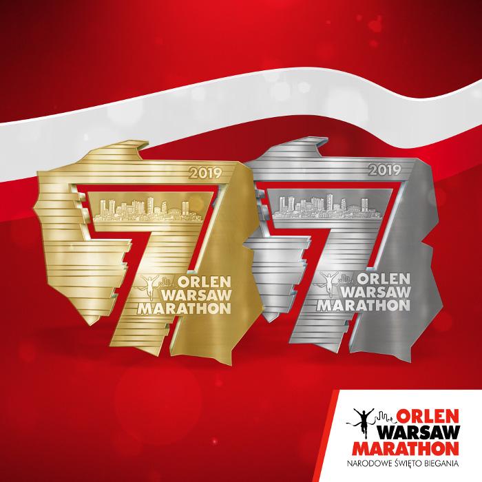 ORLEN Warsaw Marathon 2019 medal jako nagroda dla każdego