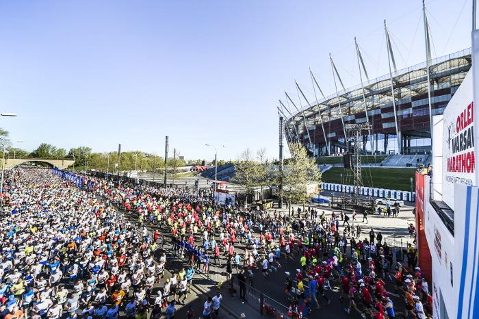 Na ulicach Warszawy trwa ORLEN Warsaw Marathon 2019