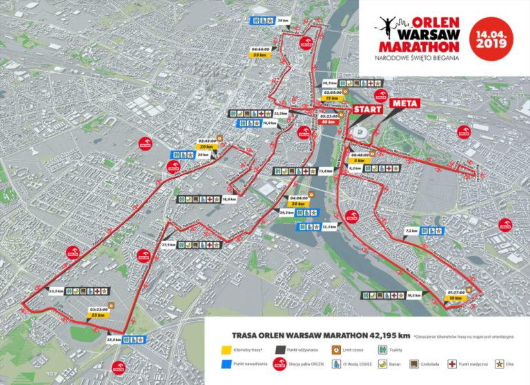 ORLEN Warsaw Marathon 2019 utrudnienia w ruchu i trasa