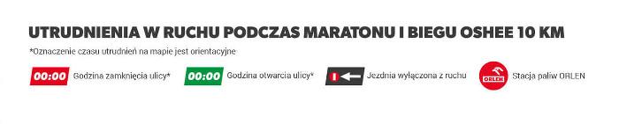 ORLEN Warsaw Marathon 2019 utrudniania w ruchu jakie godziny
