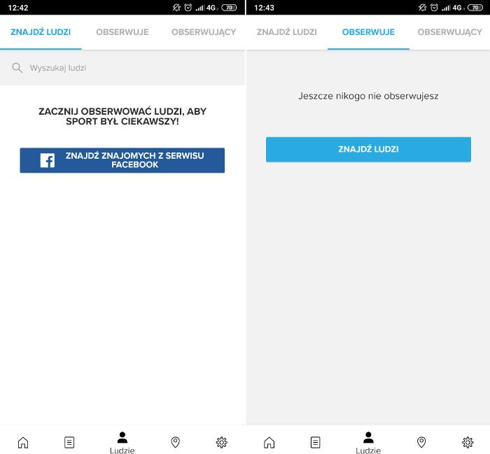 aplikacja Suunto ludzie