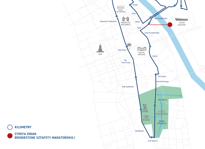 Maraton Warszawski trasa 2019