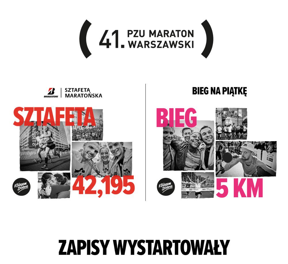41. PZU Maraton Warszawski zaprasza na biegi towarzyszące