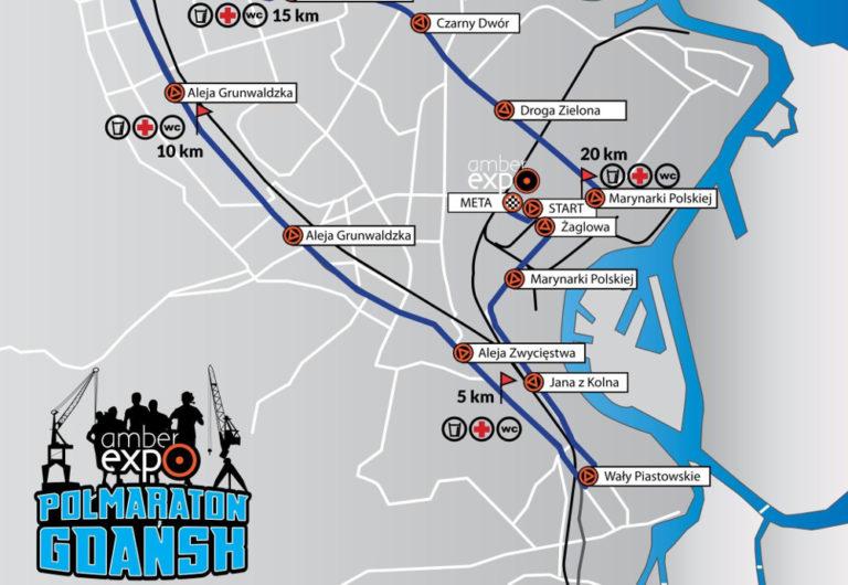 Trasa AmberExpo Półmaraton Gdańsk 2019 - płaska i szybka