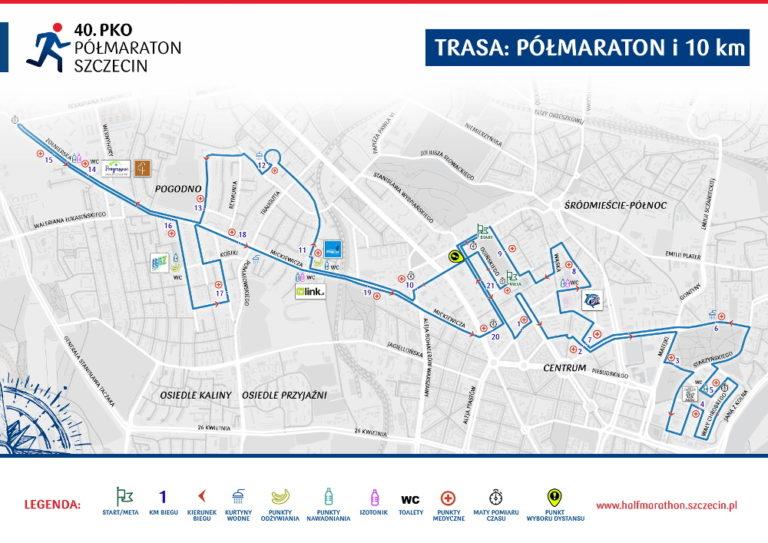 Przedstawiamy trasę 40. PKO Półmaraton Szczecin 2019
