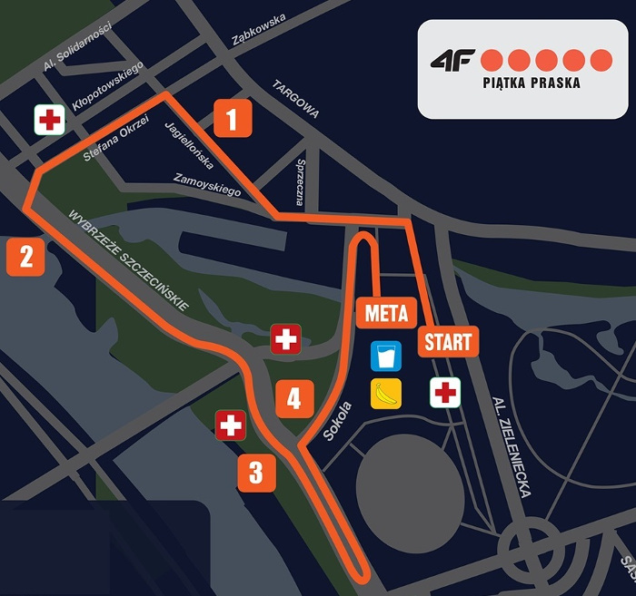 Półmaraton Praski 5 km trasa