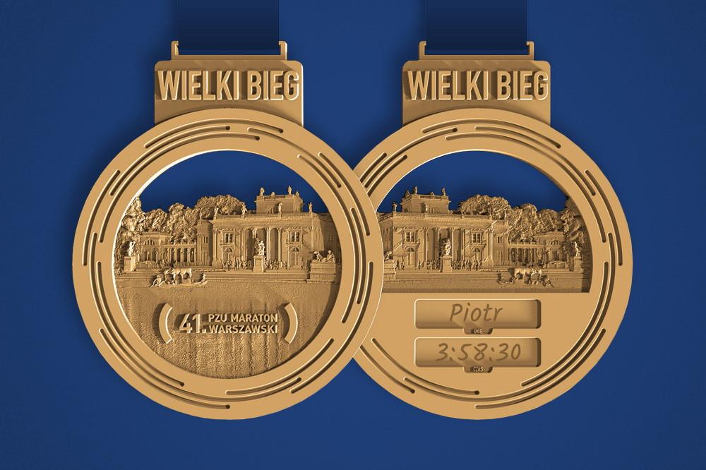 41. PZU Maraton Warszawski medal na mecie