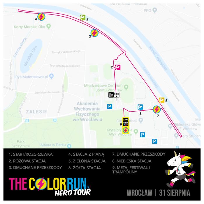 The Color Run Wrocław mapa