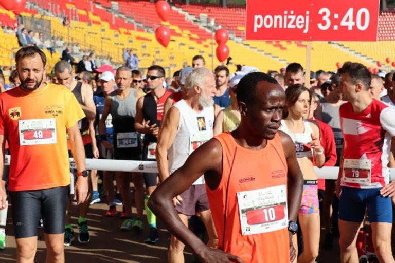37. PKO Wrocław Maraton. Biegacze na trasie