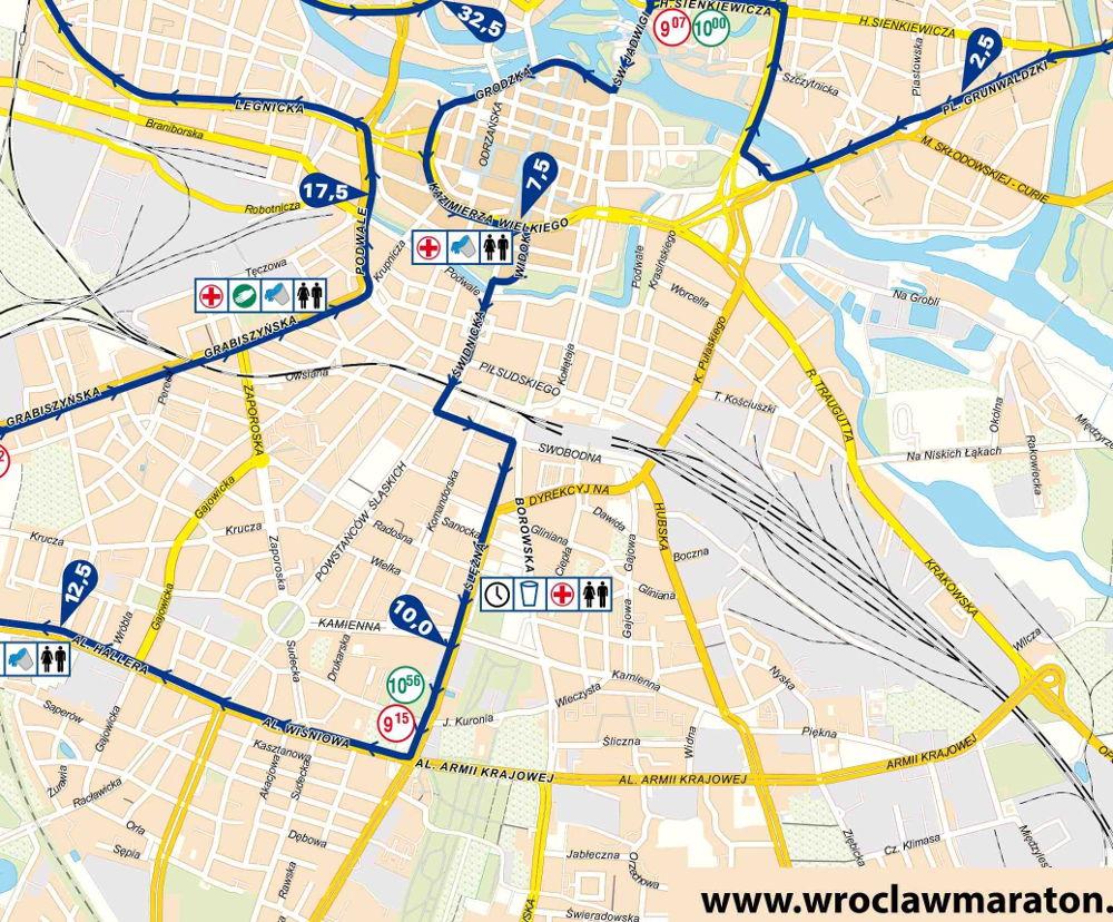 Wrocławianie czekają na 37. PKO Wrocław Maraton trasa biegu