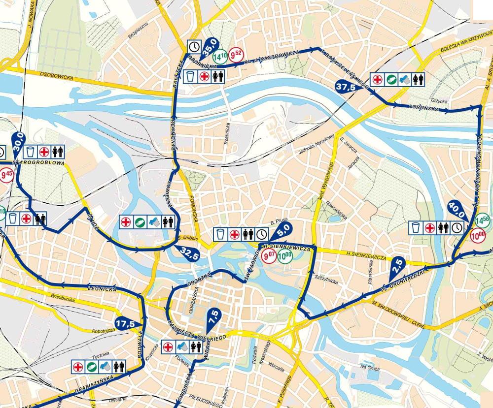 Wrocławianie czekają na 37. PKO Wrocław Maraton trasa Most Grunwaldzki