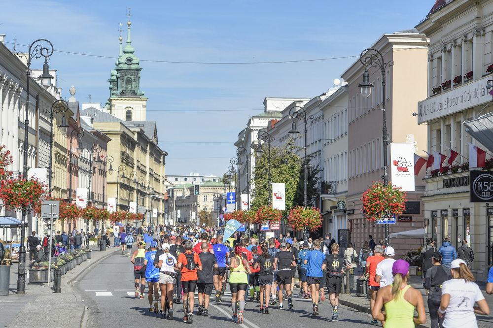 41.PZU Maraton Warszawski trasa utrudnienia
