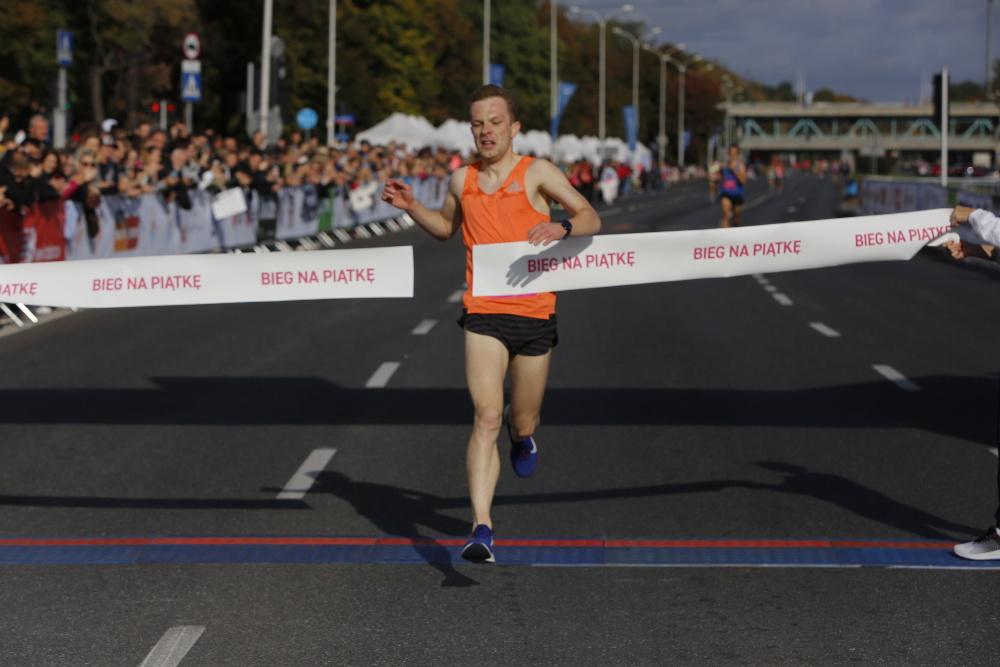 Bieg na Piątkę wygrał Aleksander Dragan