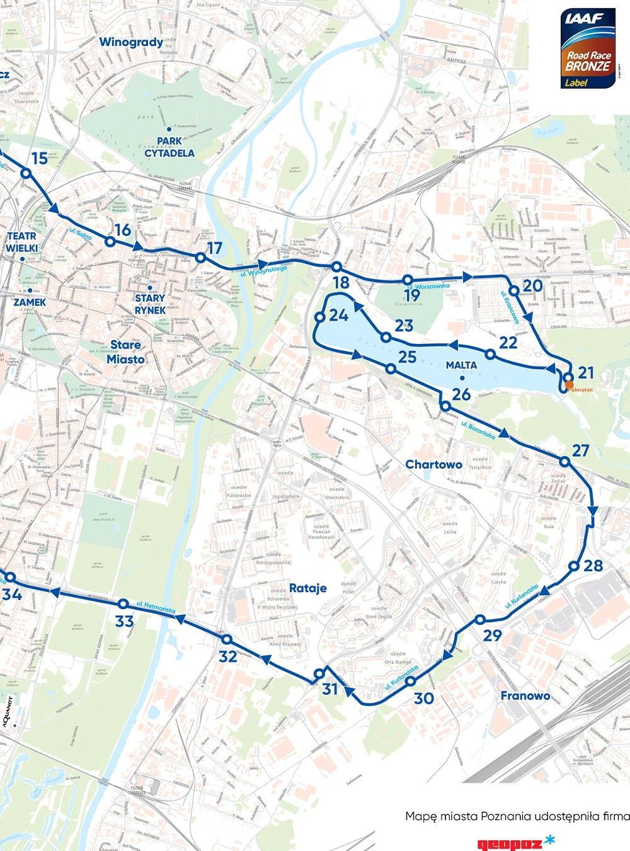 PKO Poznań Maraton 2019 trasa