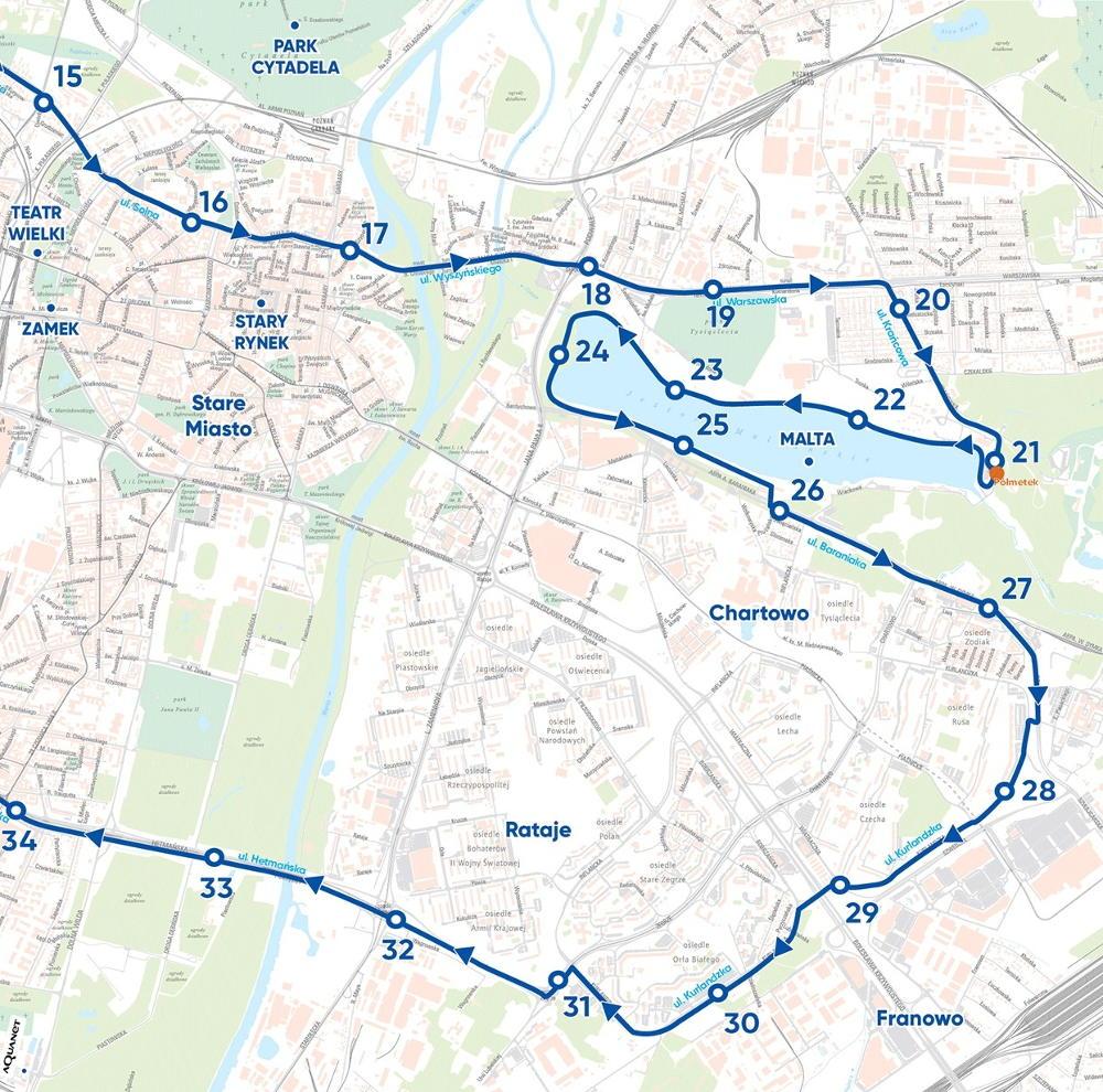 trasa 20. PKO Poznań Maraton