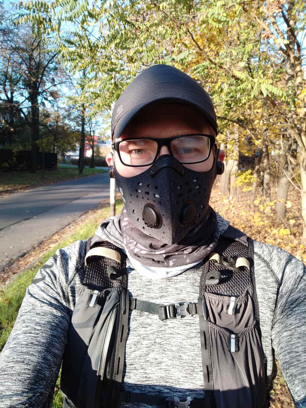 maska antysmogowa dla biegacza
