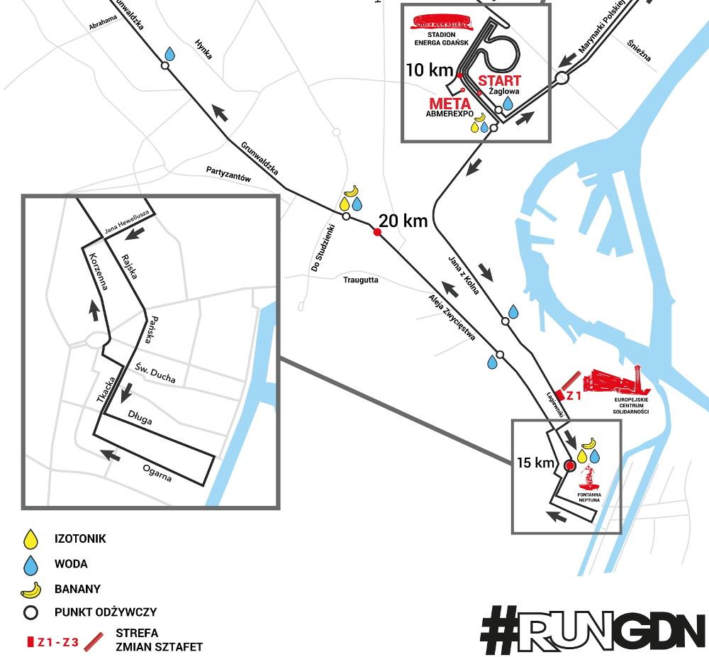 6. Gdańsk Maraton trasa 2020
